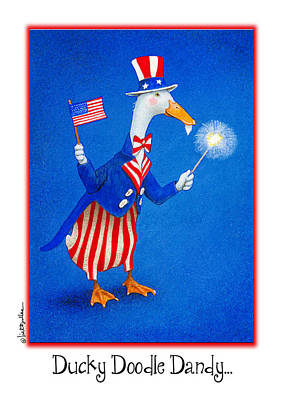 Fireworks Painting - Ducky Doodle Dandy... by Will Bullas