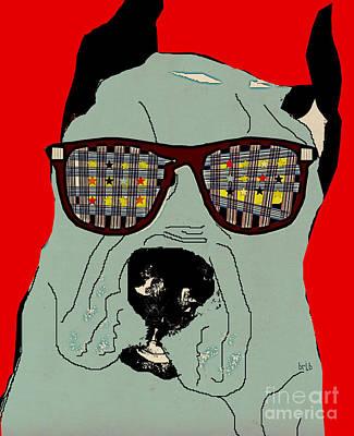 Dog Artist Digital Art - Dude by Bri B