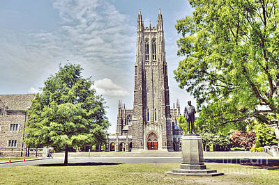 Duke Chapel In Spring Print by Emily Kay