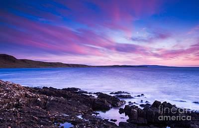 Looking Away From Camera Photograph - Duntulm Bay Twilight by Maciej Markiewicz