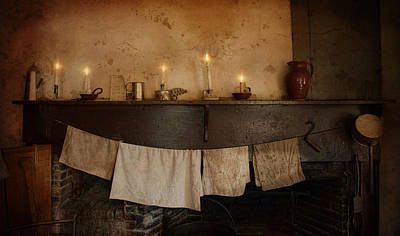By Candle Light Print by Robin-lee Vieira