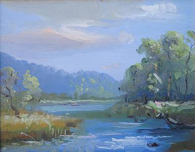 Early California Landscape Painting - Early Morning by Patricia Kimsey Bollinger