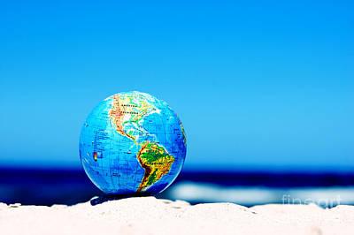 Ideas Photograph - Earth Globe. Conceptual Image by Michal Bednarek