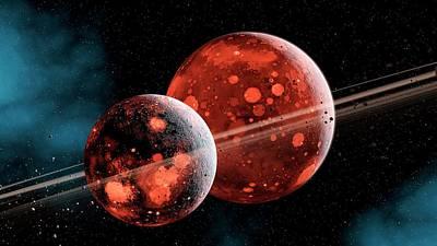 Earth-moon System Formation Print by Joe Tucciarone