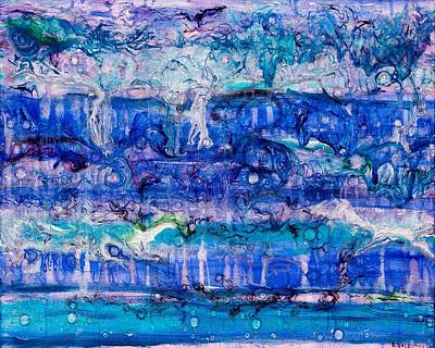 Streamer Painting - Ebb And Flow by Regina Valluzzi