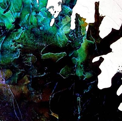 Abstracto Mixed Media - Effloresce Abstract Six Piece Art Set by Holly Anderson