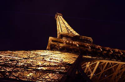 Poster From Digital Art - Eiffel Tower Paris France by Patricia Awapara