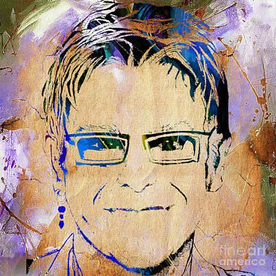 Elton John Mixed Media - Elton John Collection by Marvin Blaine