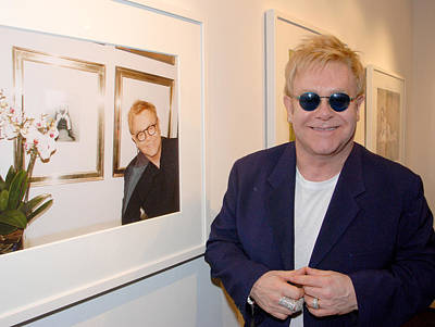 Elton Watching Elton Print by Philip Shone