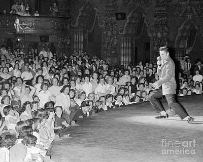 Elvis Presley Photograph - Elvis Presley In Concert At The Fox Theater Detroit 1956 by The Phillip Harrington Collection