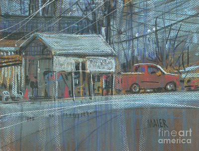 Truck Drawing - Emissions Testing by Donald Maier