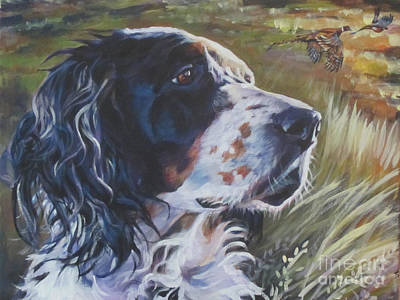 Pheasant Painting - English Setter by Lee Ann Shepard