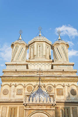 Orthodox Byzantine Icons Photograph - Episcopal Cathedral Of Curtea De Arges by Martin Zwick