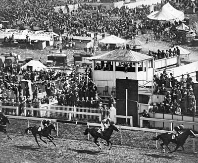 Epsom Derby Victory Print by Underwood Archives