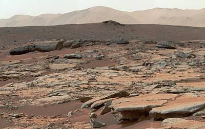 Dry Lake Photograph - Erosion On Mars by Nasa/jpl-caltech/msss