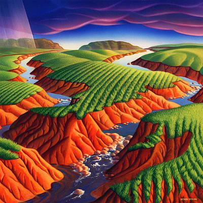 Erosion Print by Robin Moline