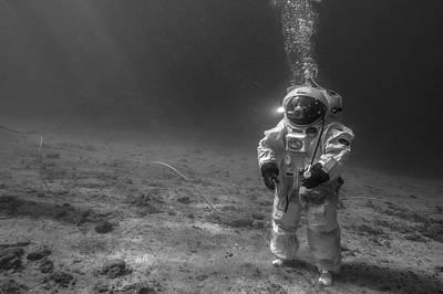 Esa Underwater Astronaut Training Print by Alexis Rosenfeld