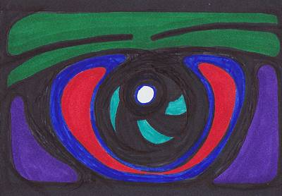 Cyclops Drawing - Eye  by Carrie Stewart