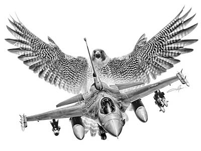 Viper Digital Art - F-16 Fighting Falcon by Dale Jackson