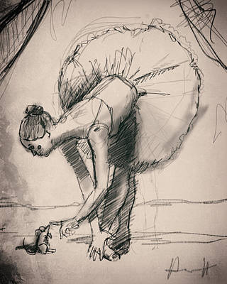 Circus Drawing - Family by H James Hoff