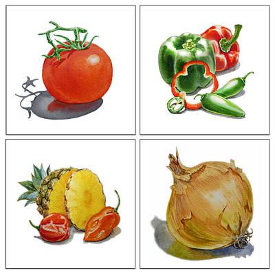 Farmers Market Delight  Print by Irina Sztukowski