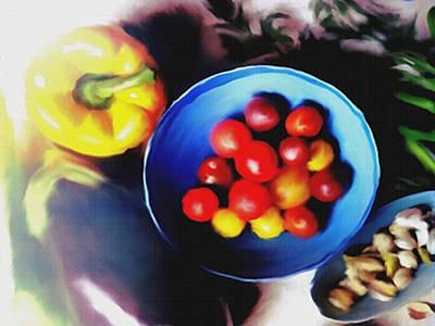 Asparagus Mixed Media - Farmers Market by Dennis Buckman