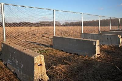 Fence Blocking Invasive Fish Species Print by Jim West