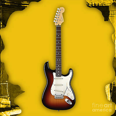 Fender Strat Mixed Media - Fender Stratocaster Collection by Marvin Blaine