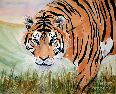 India Wildlife Painting - Ferocious by Mohamed Hirji
