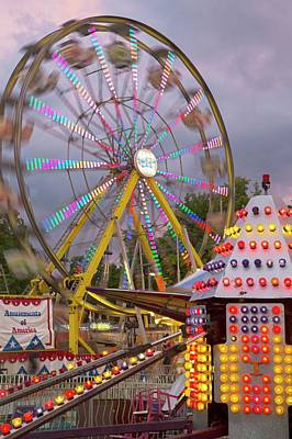 Ferris Wheel Fairground Ride Print by Jim West