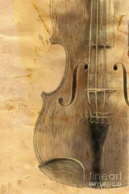 Fiddle Print by Michal Boubin