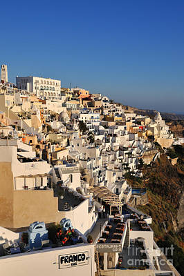 Journey Photograph - Fira Town During Sunset by George Atsametakis