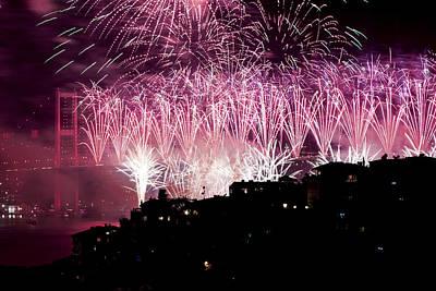 Fireworks Print by Ugur Ugurlu