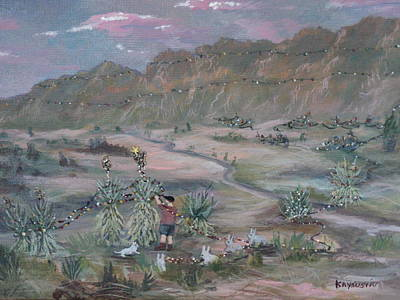 Las Cruces Painting - First Christmas In The Desert by Kay Susin
