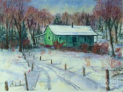 First Snow Print by Bruce Schrader