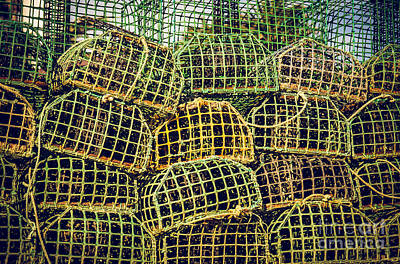 Mesh Photograph - Fishing Traps by Carlos Caetano