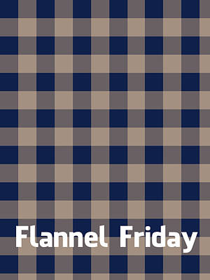 Textile Digital Art - Flannel Friday by Celestial Images