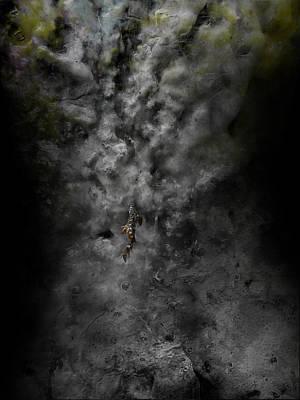 Creepy Digital Art - Floater by David Fox