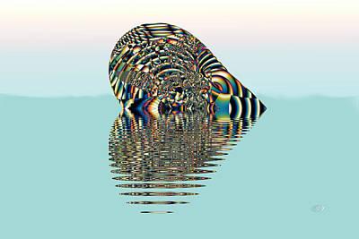 Be My Valentine Digital Art - Floating Heart by Kiki Art