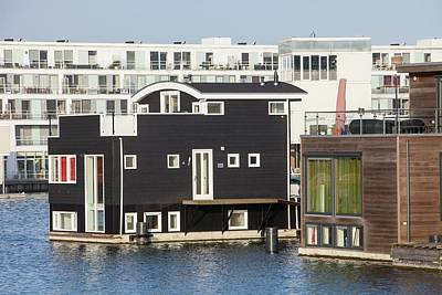 Floating House In Amsterdam Print by Ashley Cooper