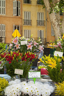 Europe Provence Aix-en-provence Photograph - Flowers At Market by Brian Jannsen