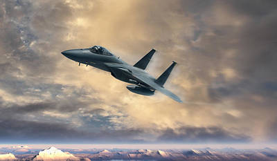 F-15 Digital Art - Fly Like An Eagle by Peter Chilelli