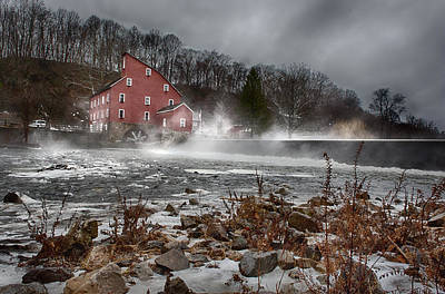 Mill Photograph - Fogged In by Ryan Crane