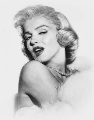 Marilyn Drawing - Forever Young by Stefan Kuhn