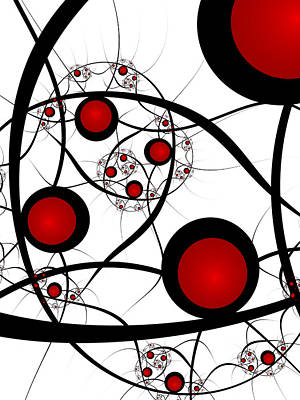 Classic Fractal Art Digital Art - Fractal Balance by Gabiw Art