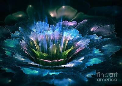 Flower Design Digital Art - Fractal Flower by Martin Capek
