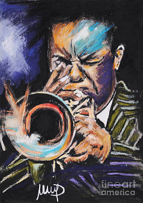 Trumpet Mixed Media - Freddie Hubbard by Melanie D