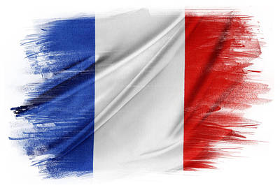 French Flag Print by Les Cunliffe