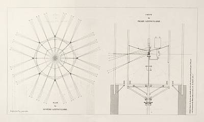 Fresnel On Lighthouse Lenses Print by King's College London