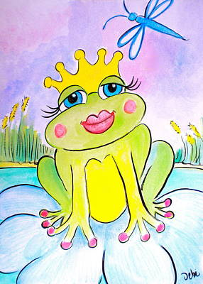 Magical Drawing - Frog Princess by Debi Starr